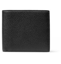 Smythson Burlington Full Grain Leather Billfold Wallet Black