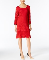 Alfani Crochet Illusion Dress Only At Macy's New Red Amore