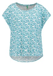 United Colors Of Benetton Print Tshirt Turquoise