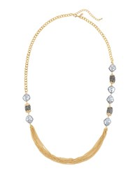 Emily And Ashley Greenbeads By Emily And Ashley Long Multi Chain Pearly Crystal Necklace Women's