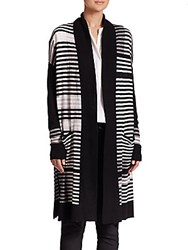 Vince Long Open Front Cardigan Off White