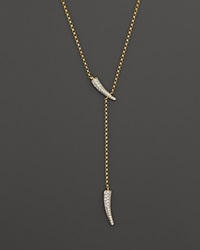 Bloomingdale's Diamond Claw Lariat Necklace In 14K Yellow Gold .40 Ct. T.W.