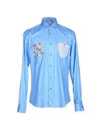 Poggianti Shirts Shirts Men Sky Blue