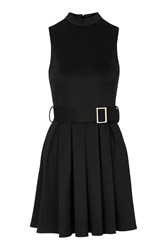 High Neck Belted Dress By Love Black