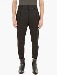 Haider Ackermann Black Dropped Crotch Trousers