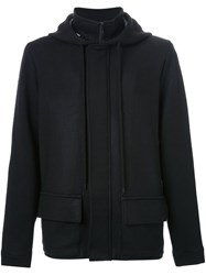 Bassike Bonded Zip Hooded Jacket Black