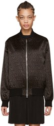 Givenchy Black And Brown Stars Bomber Jacket