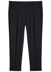 Vince Navy Cropped Wool Trousers