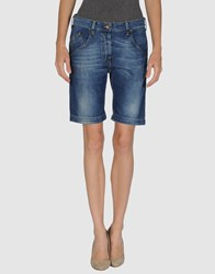 Combobella Denim Denim Bermudas Women Blue