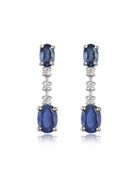 Incanto Royale Sapphire And Diamond 18K Gold Drop Earrings Blue