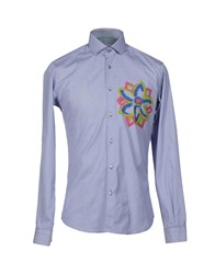 Poggianti Shirts Shirts Men Blue