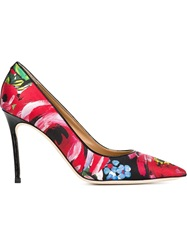Dsquared2 Flower Print Pumps Black