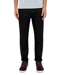 Ted Baker Sam Straight Fit Rinse Wash Jeans In Black