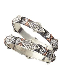 Chamak By Priya Kakkar Triangle Glitter Rhinestone Bangle Set Gray Multi