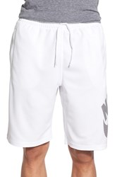 Nike Men's Sb 'Stripe Sunday' Dri Fit Shorts White Black