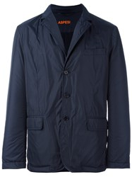 Aspesi Notched Lapel Lightweight Jacket Blue
