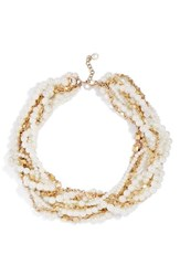 Baublebar Women's Maxine Faux Pearl And Chain Collar Necklace