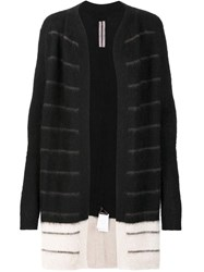 Rick Owens Long Knitted Cardigan Black
