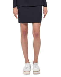 Akris Punto Jersey Pencil Mini Skirt Navy
