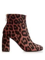 Stella Mccartney Leopard Pint Velvet Ankle Boots