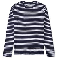 Save Khaki Long Sleeve Marine Stripe Tee Blue