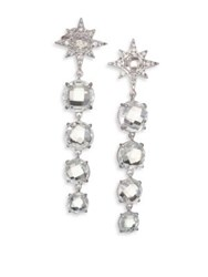 Anzie Aztec Starburst White Topaz White Sapphire And Sterling Silver Drop Earrings
