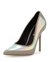 L.A.M.B. Bethel Iridescent Pointed Toe Pump Pink Gray