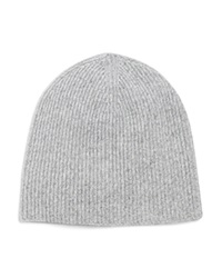 Vince Ribbed Marl Cashmere Beanie Steel Combo