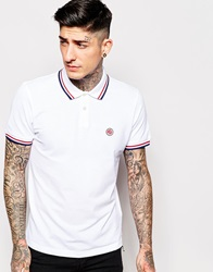 Pretty Green Polo Shirt With Tipping White