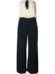 Chanel Vintage Monochrome Jumpsuit Black