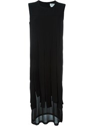 Dkny Fringed Shift Dress Black