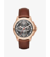 Ryker Rose Gold Tone And Leather Watch