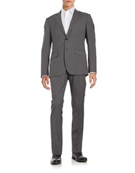 Hardy Amies Two Piece Patterned Suit Set Light Grey