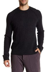 James Perse Cashmere Thermal Long Sleeve Sweater Black