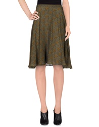 Coast Weber And Ahaus Knee Length Skirts Military Green