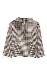 Isa Arfen Coco Chess Hooded Jacket Plaid