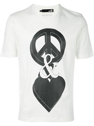 Love Moschino Peace And T Shirt White