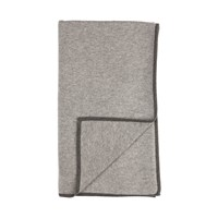 Johnstons Of Elgin Knitted Contrast Trim Cashmere Throw