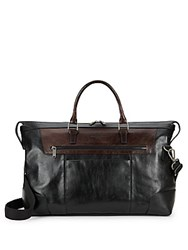 Kenneth Cole Lea Leather Duffle Bag Black