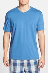 Tommy Bahama 'Palm Cove Lounger' Pima Cotton And Modal V Neck T Shirt Blue