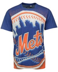 Forever Collectibles Men's New York Mets Big Logo Sublimated T Shirt Royalblue Orange