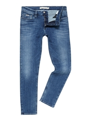 Calvin Klein Medium Wash Mid Rise Jeans Blue