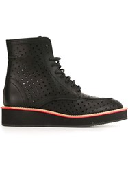 Givenchy Perforated Ankle Boots Black