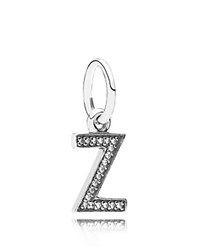 Pandora Design Pandora Pendant Sterling Silver And Cubic Zirconia Letter Z Moments Collection Silver Clear