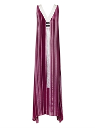 Zeus Dione Tilos Silk Blend Tassel Dress