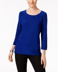 Jm Collection Jacquard Top Only At Macy's Bright Saphire