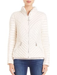 Creenstone Pearl Summer Puffer Jacket White