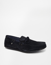 Firetrap Suede Driving Shoes Blue