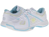 Wilson Nvision White Turquoise Women's Tennis Shoes