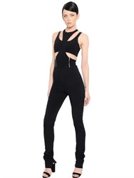 David Koma Cutout Cady Jumpsuit
